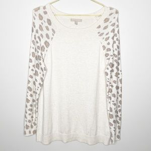 Banana Republic Cashmere Blend Leopard Sweater M